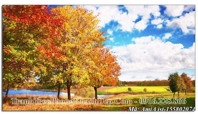 Tranh đẹp phong cảnh mùa Thu AmiA 155802074