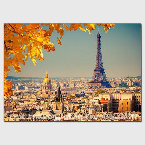 Tranh AmiA 82270319 tháp Eiffel vào mùa Thu đẹp