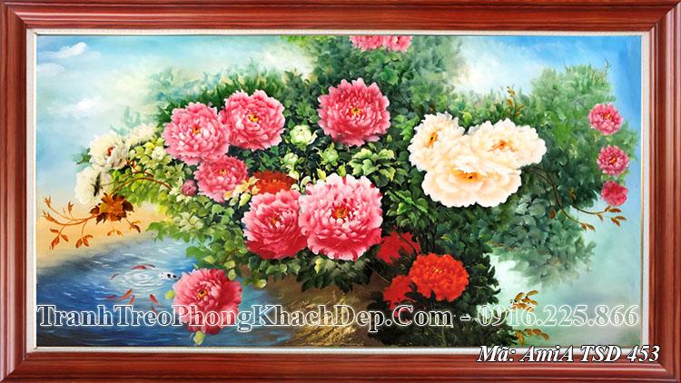 Tranh trang trí phòng khách đẹp AmiA 453 sơn dầu