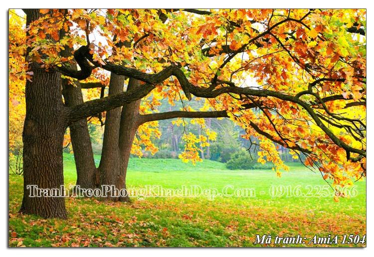 Tranh treo mùa thu một tấm khổ lớn AmiA 1504