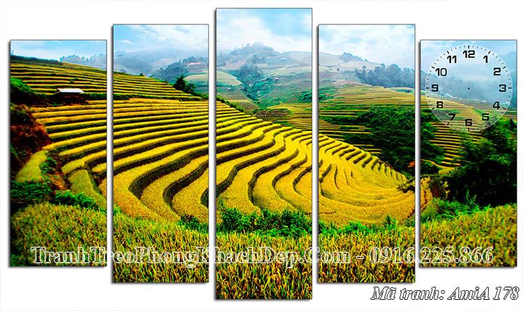 Tranh ruộng bậc thang phong cảnh quê hương AmiA 178