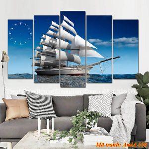 Tranh thuyền treo phòng khách đẹp nhất AmiA 330