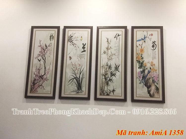 Hình ảnh tranh tứ quý đẹp AmiA 1358