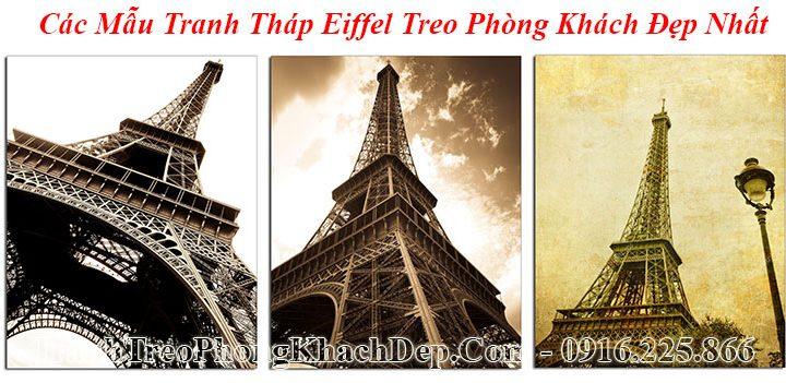 Các mẫu tranh tháp Epphen đẹp nhất