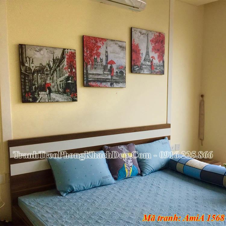 Tranh treo phòng ngủ chung cư AmiA 1568