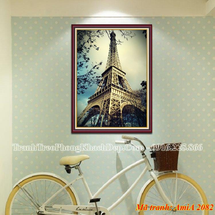 Tranh khung nghệ thuật Amia 2082 tháp Eiffel một tấm