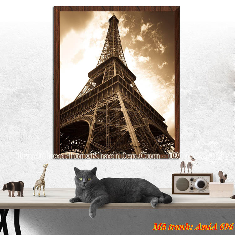 Tranh một tấm AmiA 696 tháp Eiffel