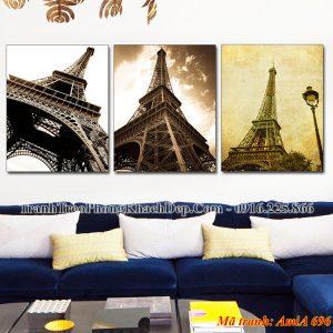 Tranh AmiA 696 bộ 3 tấm tháp Eiffel