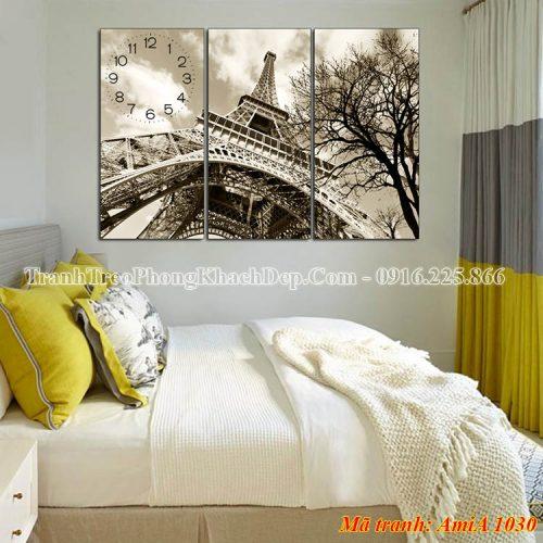 Tranh treo phòng ngủ tháp Eiffel Amia 1030