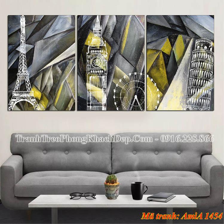 Tranh nghệ thuật treo phòng khách AmiA 1454