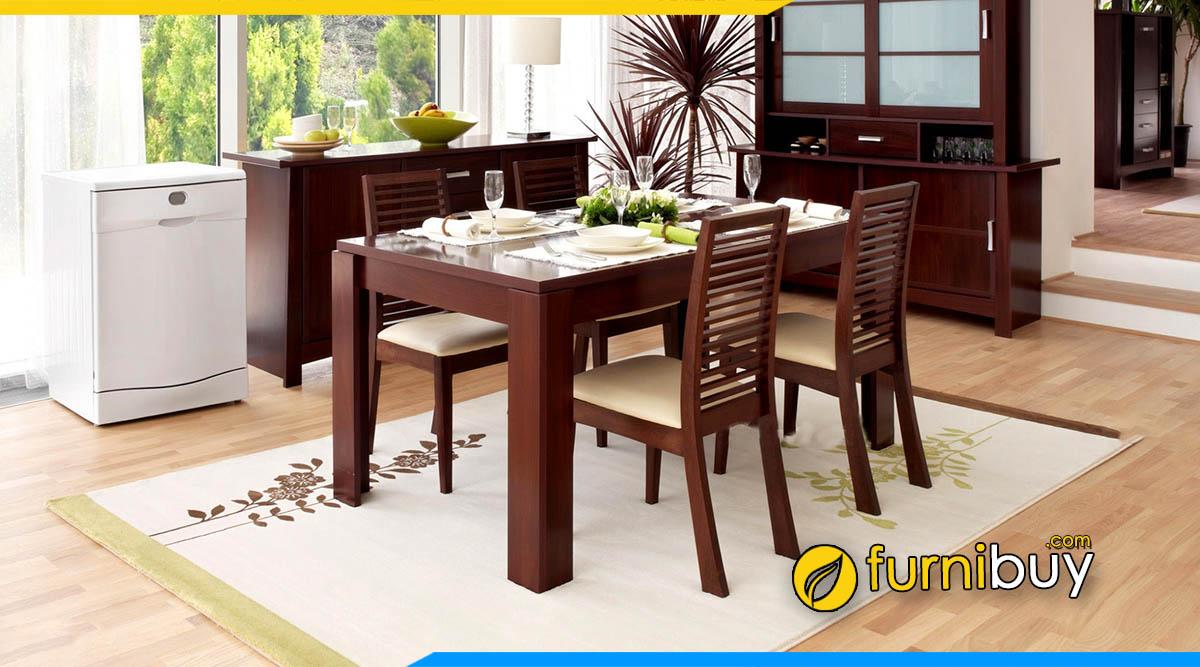 Kiểu dáng bộ bàn ăn chữ nhật đẹp hiện đại