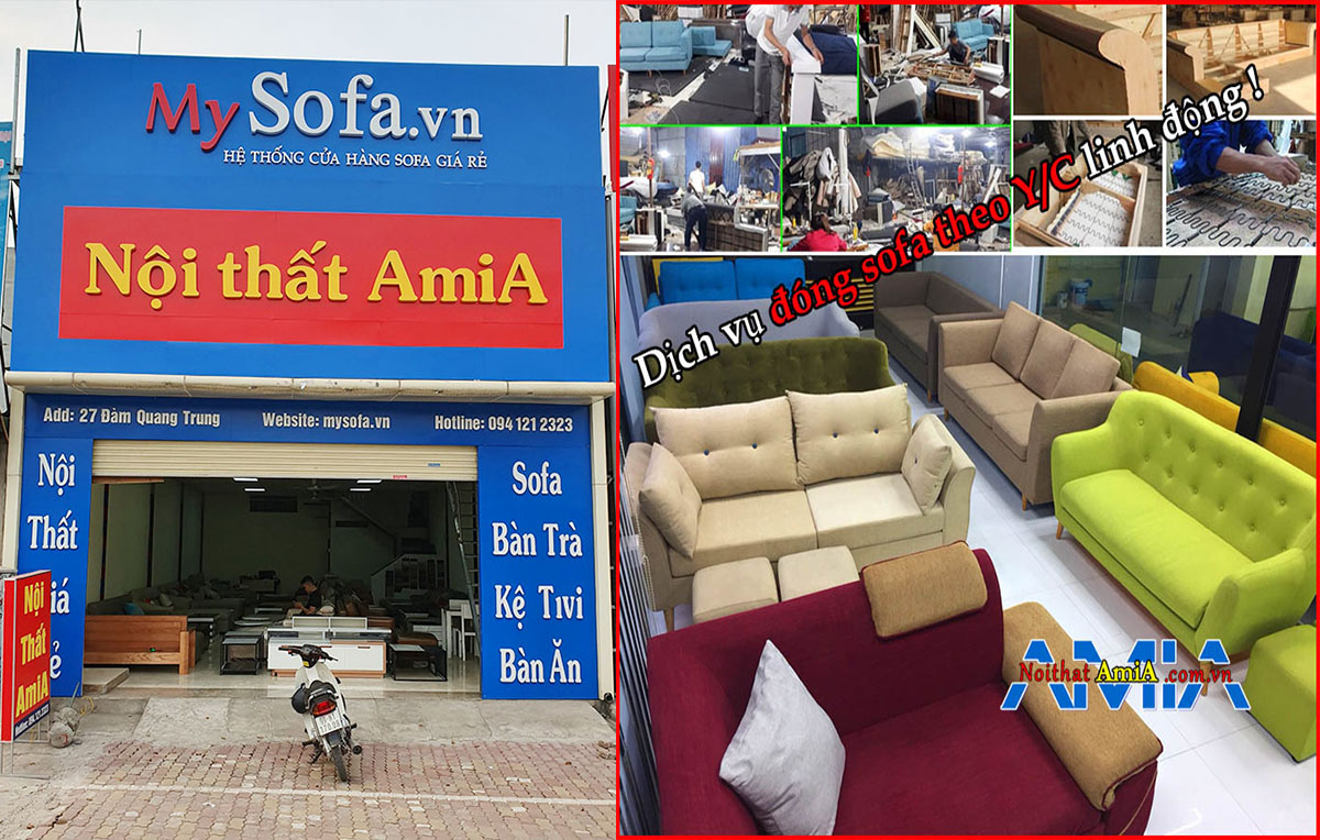 Địa chỉ bán và đóng sofa gỗ theo yêu cầu