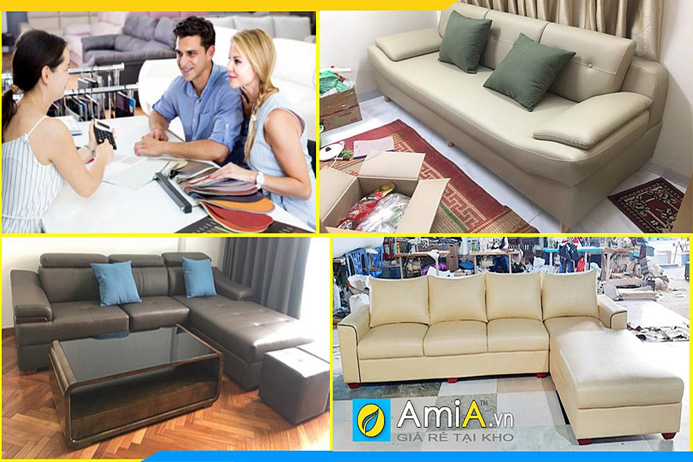 Xưởng sản xuất sofa da giá rẻ